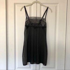Black lace La Perla slip dress